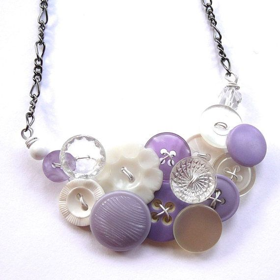 201 best button jewelry images on Pinterest Button button Button