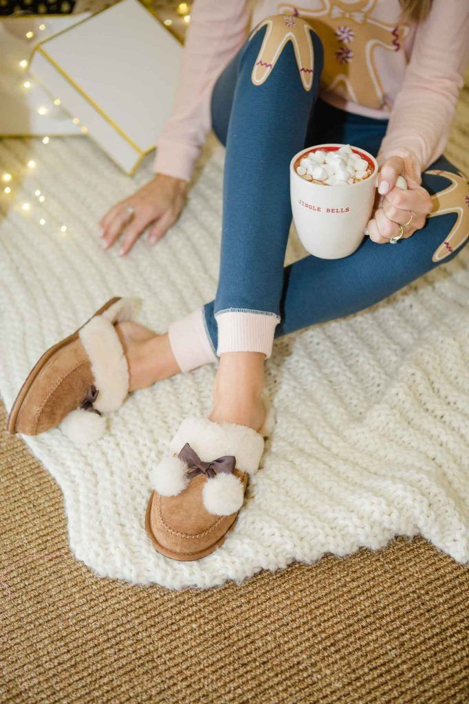 20597de1092 Christmas Pajamas // Ugg Slippers // Rae Dunn Hot Chocolate | blonde ...