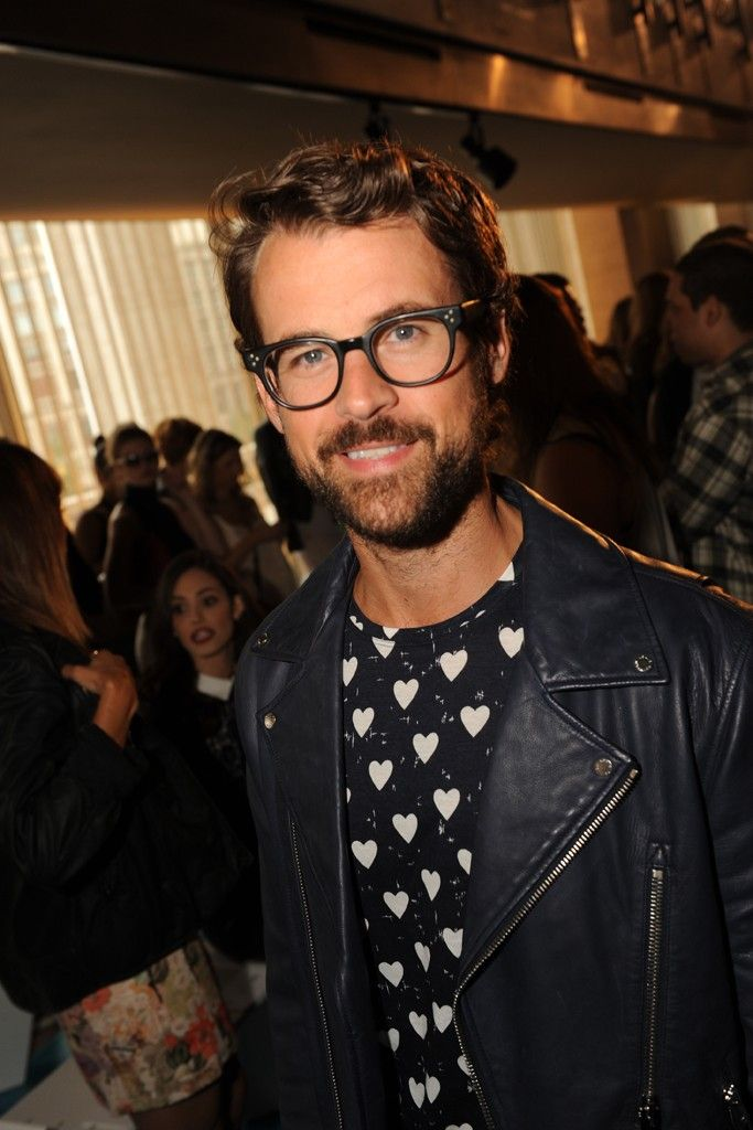 Brad Goreski Front Row at Tory Burch  [Photo by Steve Eichner]