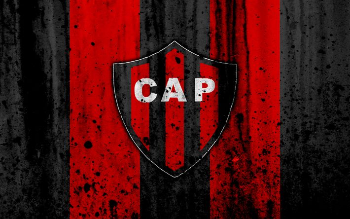 Download wallpapers 4k, FC Patronato, grunge, Superliga, soccer, Argentina, logo, Patronato, football club, stone texture, Patronato FC