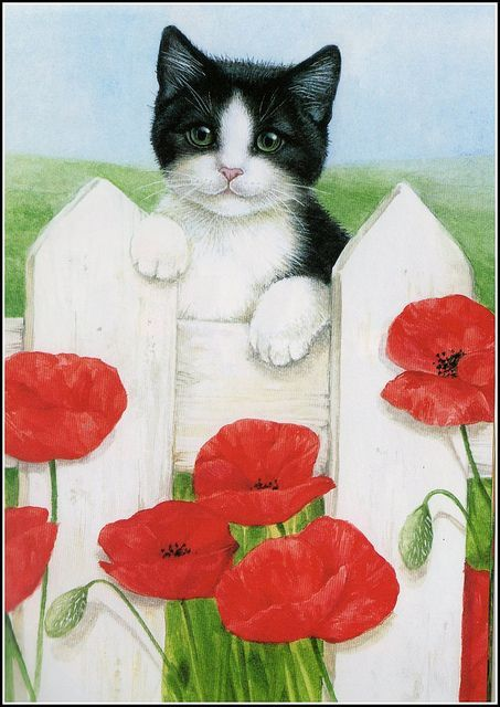 sue tarr artist | Calender cat | Meow
