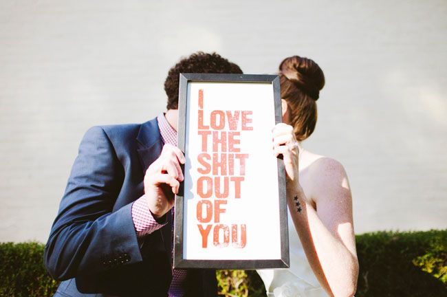 Too Awesome... Love and Typography, what every Graphic Designer needs-Vintage Garden Party Wedding: Louise + Dave