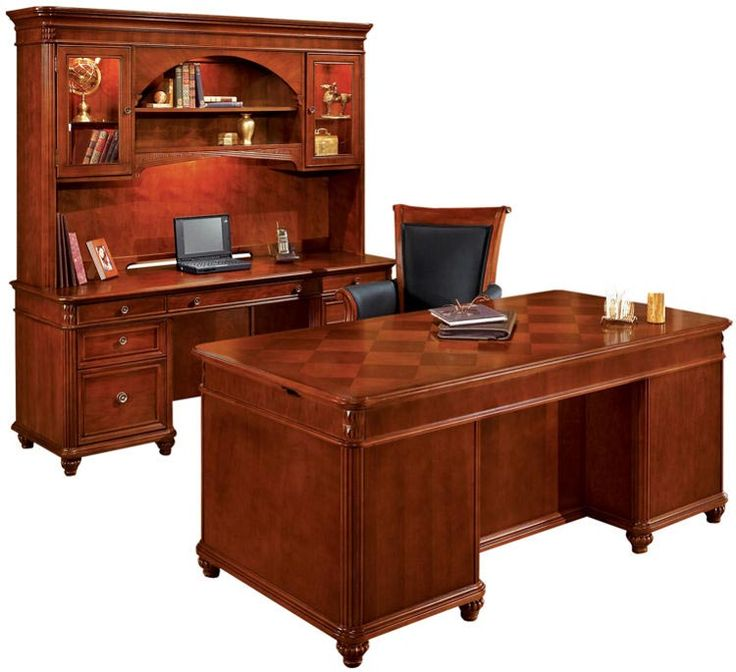 image of three piece executive desk set by dmi office furniture