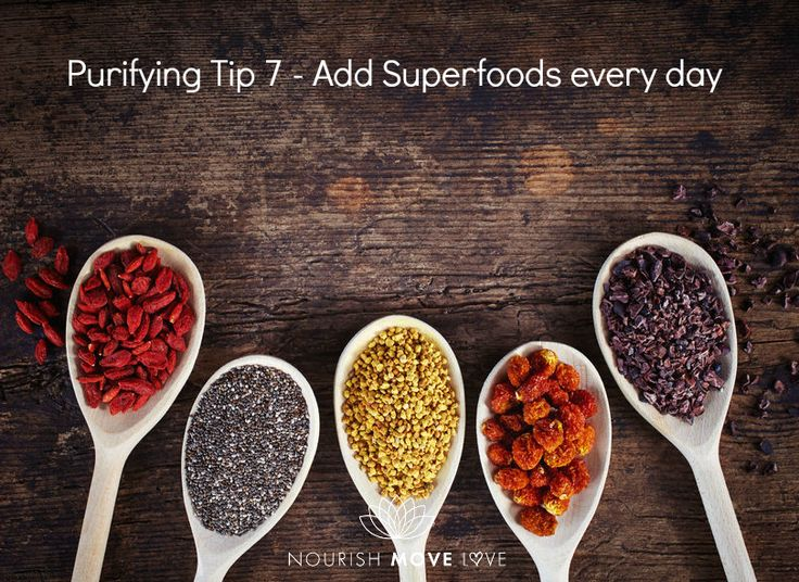 Try to incorporate super foods into every meal and enjoy how beneficial they are. These substances can help you to not only cleanse and get rid of harmful substances that have built up, but also fight off any harmful agent that may be trying to attach your system. Something as small as a virus or as harmful as a disease is more easily fought off when you include super foods and their important antioxidant concentration. Some of my daily favourites are : *Chia Seeds *Kale *Goji berries *Cocoa…