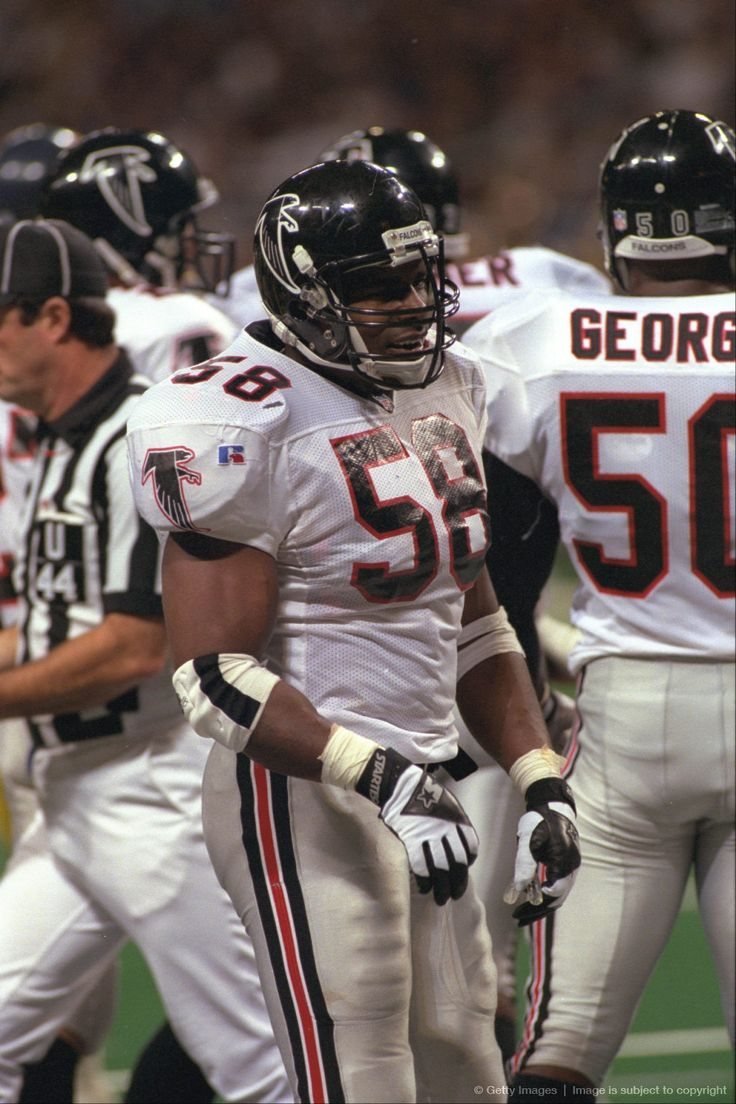 Image Detail For Atlanta Falcons Linebacker Jessie Tuggle Looks To The Sideline For Inst Atlanta Falcons Football Atlanta Falcons Vintage Atlanta Falcons Fans