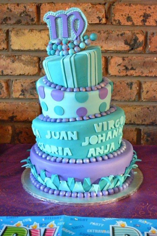 Virgo Birthday Party Cake Unique Cakes Cake Party