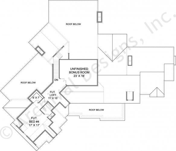 Amicalola River Lodge Cottage House Plan First Floor