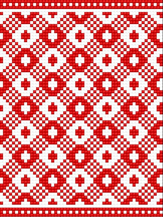 haft ludowy | Motyw 077 (haft ukraiński, ludowy, ornament, ukrainian embroidery)