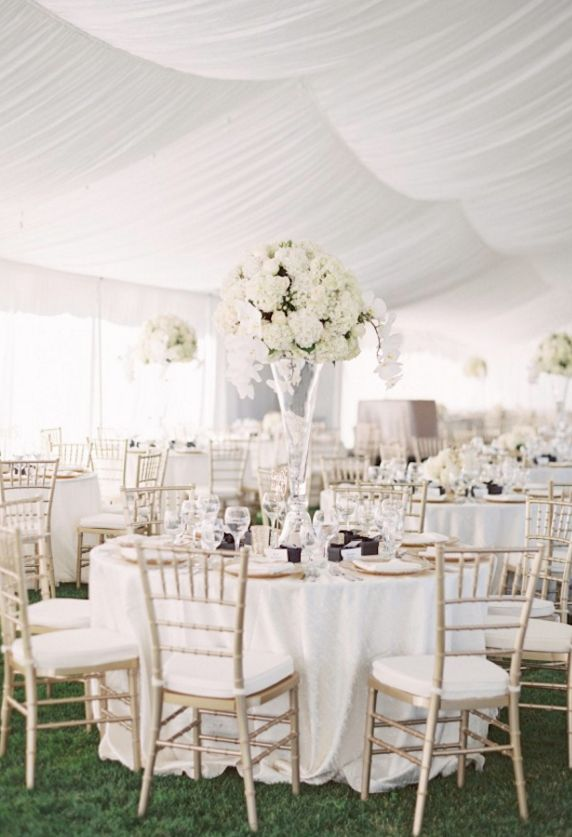 Romantic Champagne Gold Montana Wedding Reception Tables To Love