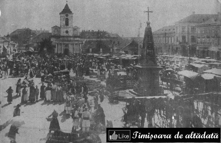 Timisoara - 1873 - Piaţa Traian de astăzi, Kossuth tér (maghiară) sau Hauptplatz (în germană)