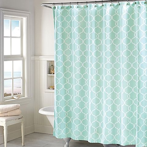 Add A Modern Twist To Your Bathroom Decor With The Langley Shower Curtain In Mint