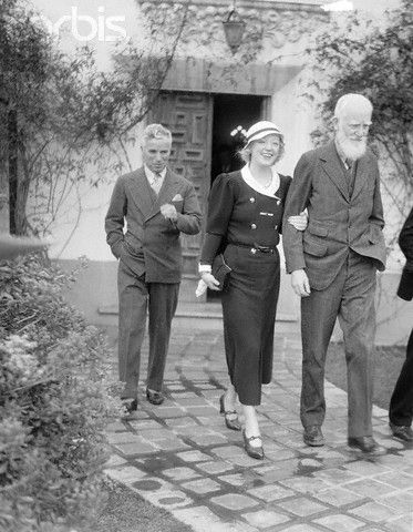 Charlie with Marion Davies and George Bernard Shaw c.1933