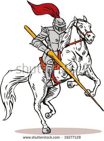 Knight attacking  #knight #cartoon #illustration