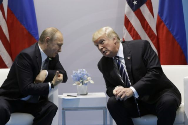 """Russia says otherwise: """"Russian Foreign Minister Sergey Lavrov told reporters that Trump described the multiple investigations into Moscow's alleged interference as """"strange and bizarre"""" because thus far """"not a single fact has been presented"""" to prove the charge.""""... [Tillerson said of the chemistry btwn the 2 men. Apparently, the meeting was about casting them for a romantic movie. Who knew??]"""