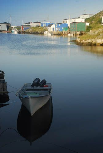 The boat harbour in Rose Blanche, Newfoundland.