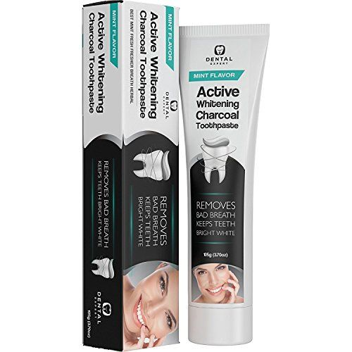 Activated Charcoal Teeth Whitening Toothpaste - DESTROYS BAD BREATH - Best Natural Black Tooth Paste Kit - MINT FLAVOR - Herbal Decay Treatment - REMOVES COFFEE STAINS - 105g (3.7 Oz)  SUPER SAVER TUBE - order the Dental Expert activated charcoal toothpaste and get more for less with our super-saver tube. Get maximum value for your money and whiten your teeth with total confidence. At Dental Expert, we believe in providing the highest possible value to our customers at all times.  WHIT...