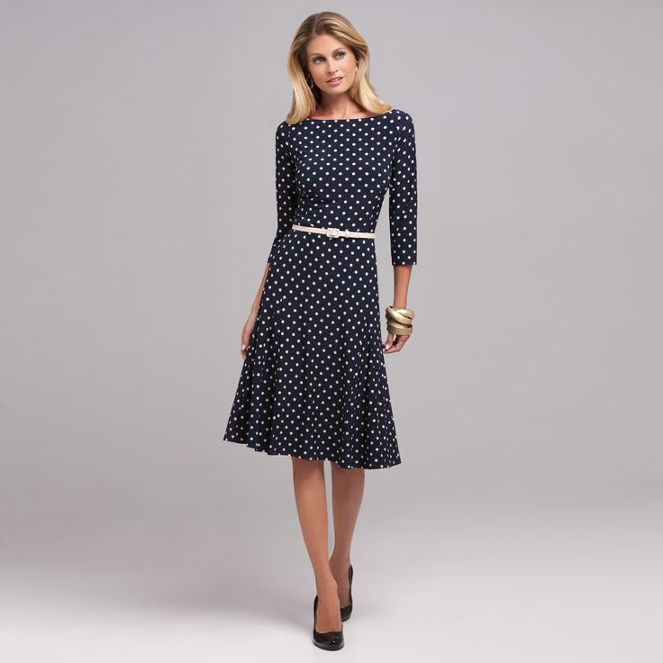 Top 10 Dress Styles for Women Over 50 #1: FULLER SKIRT Dresses that are fitted on top and flare on bottom (ie, an A-line) are a flattering choice for most older women.