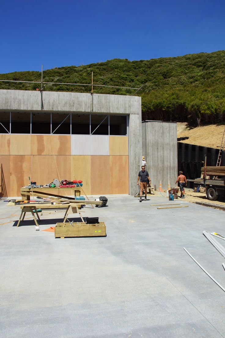 A beautiful day, and a rather large implement shed in the Bay of Islands.