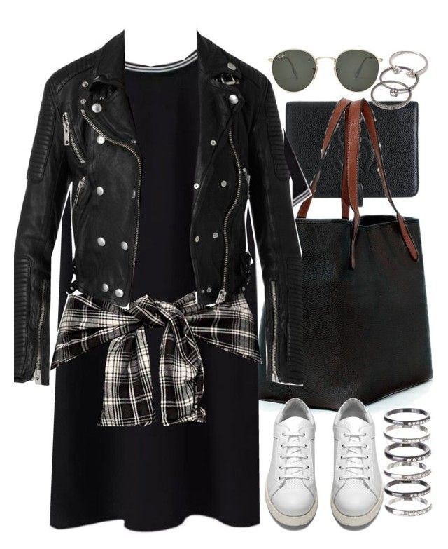 """""""Lucluc 6"""" by nikka-phillips ❤ liked on Polyvore featuring Chanel, Ray-Ban, M.N.G, Acne Studios, Burberry and Forever 21"""