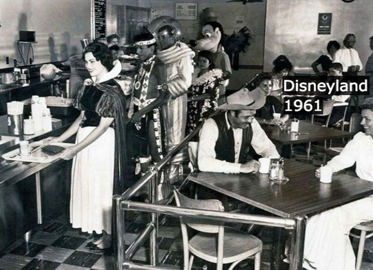 DISNEYLAND BACKSTAGE CAFE When the magic of Disneyland takes a break, you might still need to squint to see the human underneath the costume. Each face in this moment truly reveals the individual struggle and connection with their character, and unreal perfection even makeup cannot fully realize