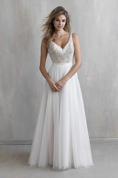 Wedding gown by Madison James.Check out more gorgeous dresses in our Madison James gown gallery ►
