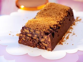 Terrine chocolat noir et spéculoos