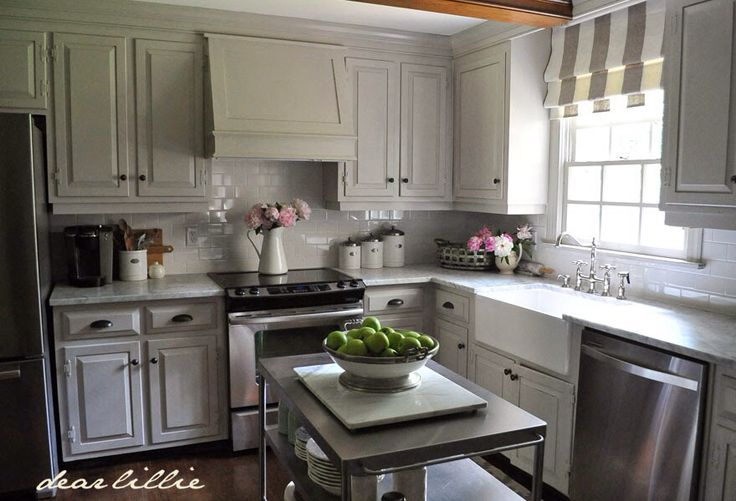 cabinets are painted winter gates in a semi gloss finish on benjamin moore kitchen cabinet paint id=37816