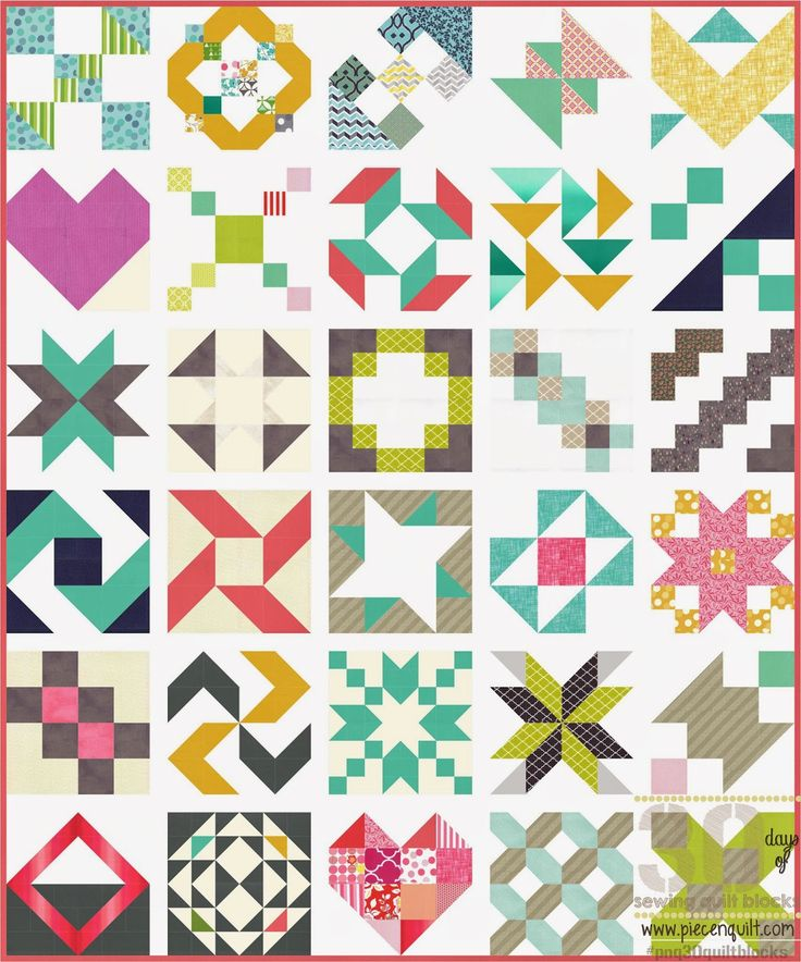 Weve done it! Weve made it through all 30 quilt block tutorials. Now you can sew those quilt...
