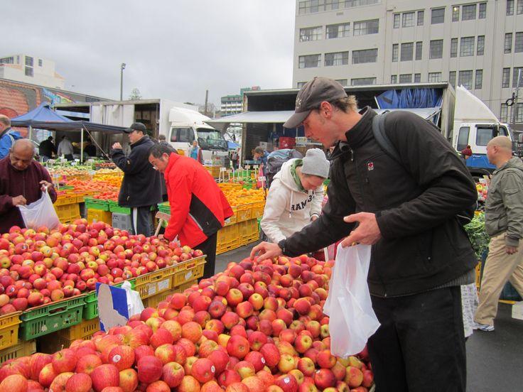 fruit galore at the wellington city fruit markets (farmers markets) wellington nz