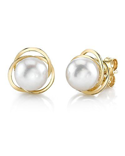 14K Gold Akoya Cultured Pearl Lexi Earrings * You can get more details by clicking on the image.