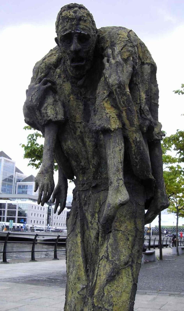 Travel to learn and to remember: Potato Famine Memorial. Dublin. Ireland.  Powerful, heartbreaking .