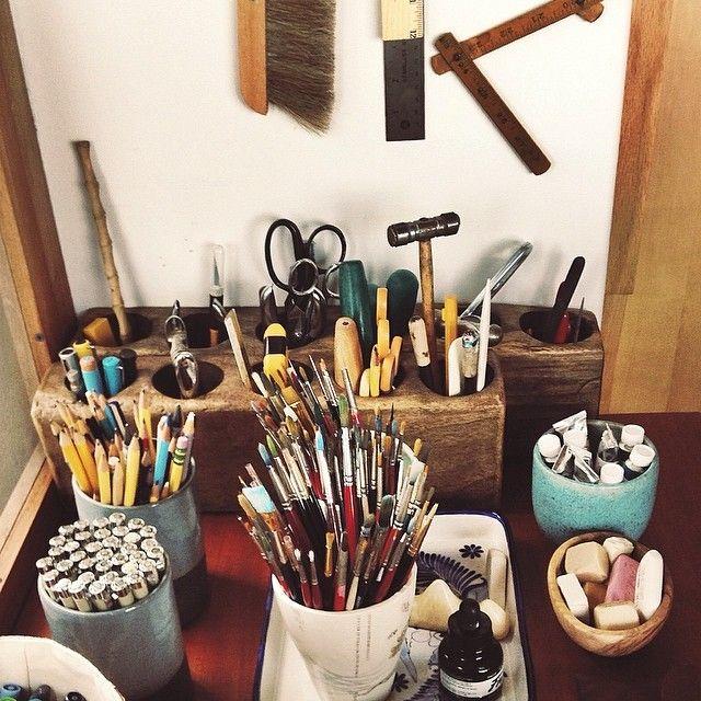 Geninne's work space / organisation and storage ideas