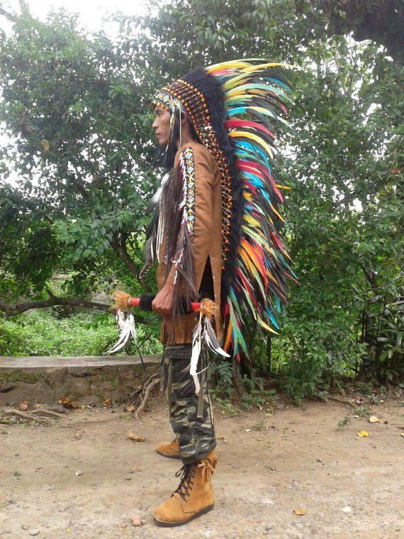 SALE Extra LONG Indian style Headdress Native American