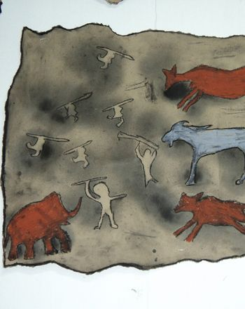 Activities: Make Cave Paintings For FA Final; have them create a cave painting, write a story for their painting, and have them act it out?