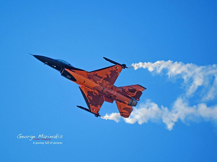 F-16 Dutch Solo Display by George Marinakis on 500px