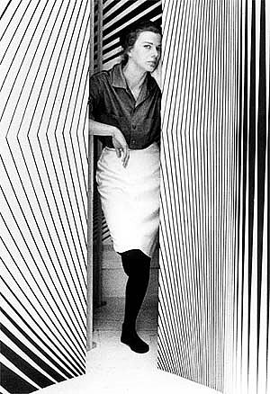 The talented Bridget Riley was a huge inspiration for the Cruise '13 collection - LGHQx