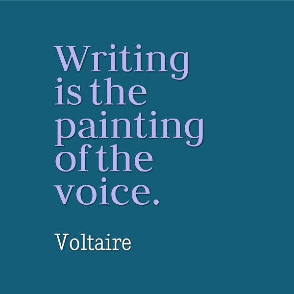 "Are you painting with your original voice today? ""Writing is the painting of the voice."" - Voltaire #writing #inspiration:"