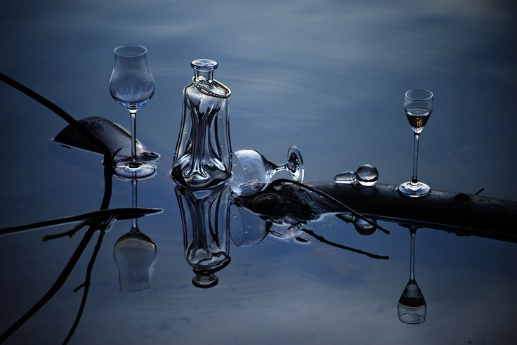 conceptbook 2016 topic: mountain lake // Holmegaard anniversary carafe and glass ware