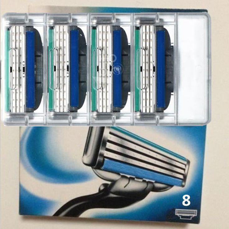 8 יח'\חבילה sharp טורבו את האיכות הטובה ביותר גילוח להבים לגברים גילוח, עיסת 3 סכין גילוח טורבו סטנדרטי עבור כל המדינות גברים