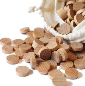 Liczmany drewniane żetony PILCH