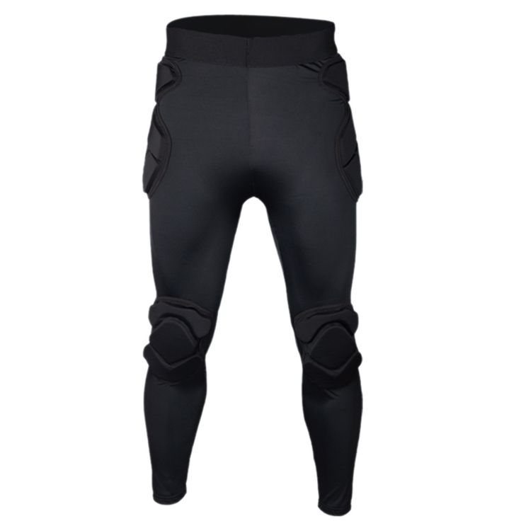 Long Sleeve Goalkeeper Clothes Elbow Pads Helmet Kneecaps thick long pants M