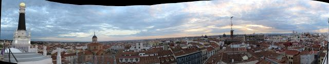Vista panorámica de 360º de Madrid desde la azotea del hotel Me Reina Victoria