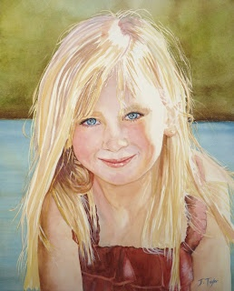 Watercolors by Jen Taylor: Commissioned Watercolor Portraits - this is just beautiful
