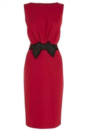 Bow Dress, I love Black & red in the winter!!!!