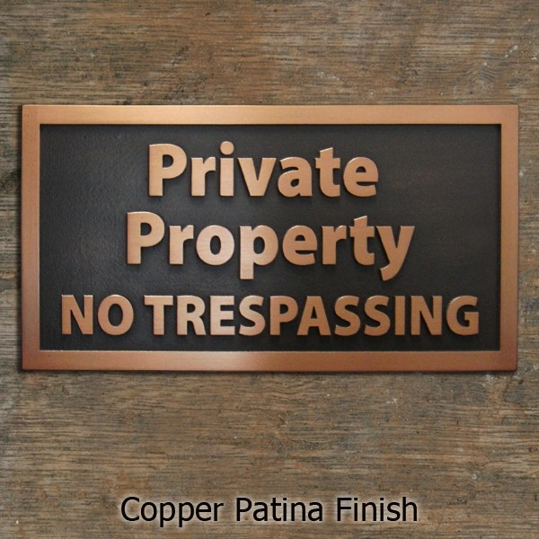 Decorative Private Property Signs Private Property No Trespassing Simple Direct Cabin Sign