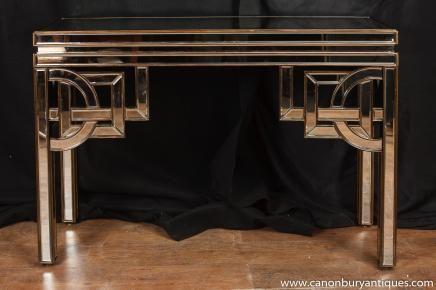 Art Deco Gespiegelte Console Tabelle Halle Tabellen 1920er Jahren Möbel