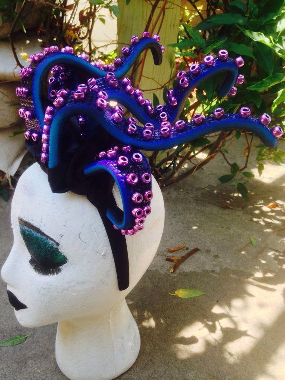 Ursula headpiece / Ursula headband / Ursula Costume / Octopus Fascinator…