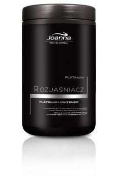 Rozjaśniacz Platinum  Rozjaśniacz Platinum Joanna Professional zyskał teraz jeszcze nowszą, efektywniejszą recepturę. Dodatkową zaletą jest wyjątkowo niepyląca formuła, która po dodaniu odpowiedniego utleniacza Joanna Professional zamienia się w kremową pastę, która jest łatwa w nakładaniu na włosy, nie spływa z nich i nie puchnie.