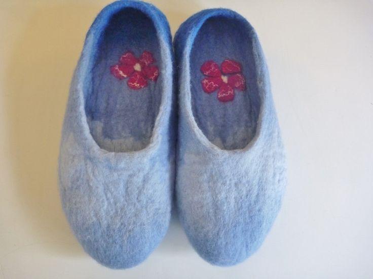 Slippers  Hand Felted Slippers,   Australian Merino wool by ChrysArtGlass on Etsy