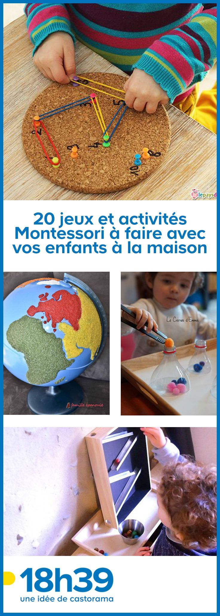 Montessori pedagogy is not reserved for schools! Here is a small selection of DIY activities to do with your kids at home.    –  #MontessoriEducationA…